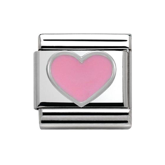 Pink Heart Classic Charm