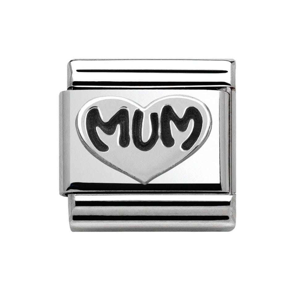 ba53627ef Nomination My Family Silver Mum Love Heart Classic Charm