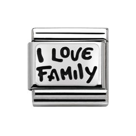 My Family Silver I Love Family Classic Charm