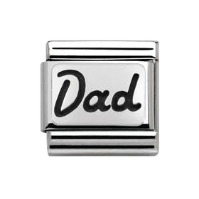 My Family Silver Dad Classic Charm