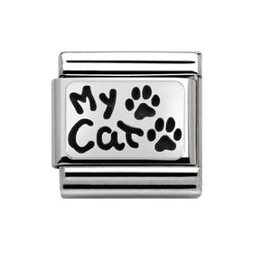 My Family Silver My Cat Classic Charm