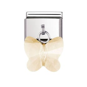 Champagne Butterfly Classic Dangle Charm