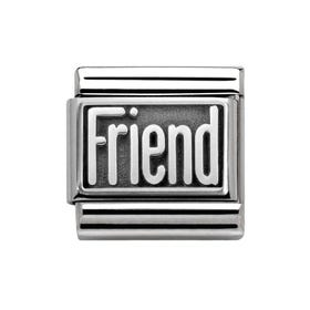 My Family Oxidised Silver Friend Classic Charm