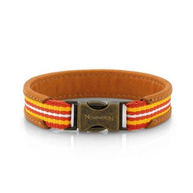 Cruise Brown Leather, Yellow & Orange Bracelet