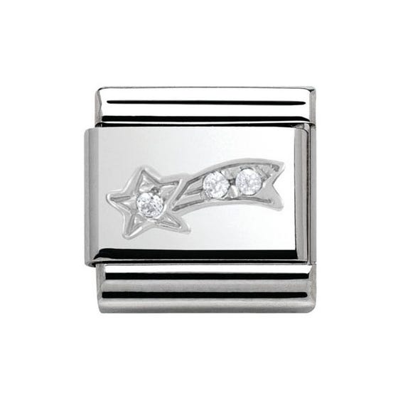 Silver Sparkling Comet Classic Charm