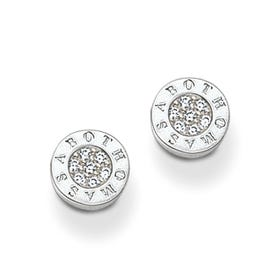 Glam & Soul White Zirconia Stud Earrings