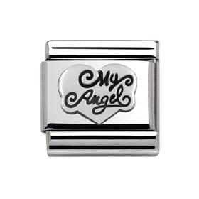 My Angel Heart Silver Charm