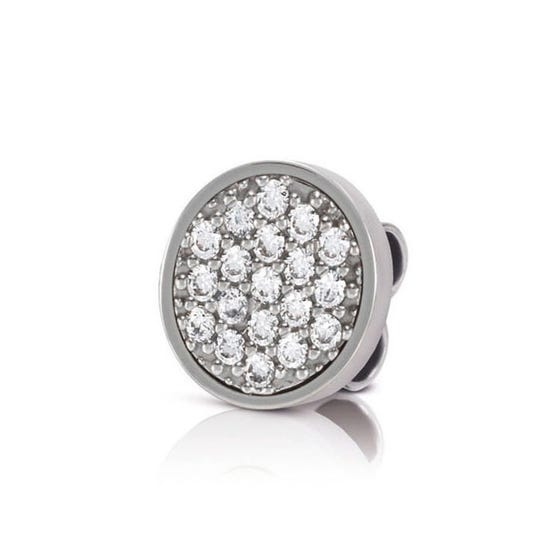MyBonBons Stainless Steel & Pave Charm