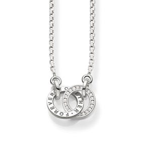 """Sterling Silver Small """"Together Forever"""" Necklace"""