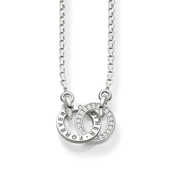 "Sterling Silver Small ""Together Forever"" Necklace"