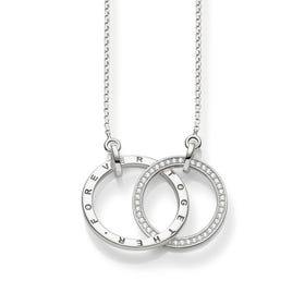 "Sterling Silver ""Together Forever"" Necklace"