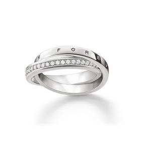 "Silver ""Together Forever"" Womens Ring"