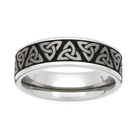 Titanium Trinity Engraved 5mm Ring