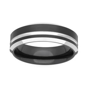 Zirconium Satin Flat 6mm Ring