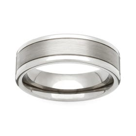 Titanium Satin and Polished 5mm Ring
