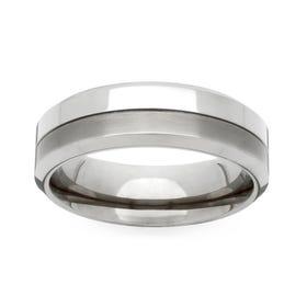 Titanium Twin Finish 4mm Ring