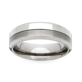 Titanium Twin Finish 4mm Ring