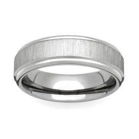 Titanium Flat Linished 4mm Ring