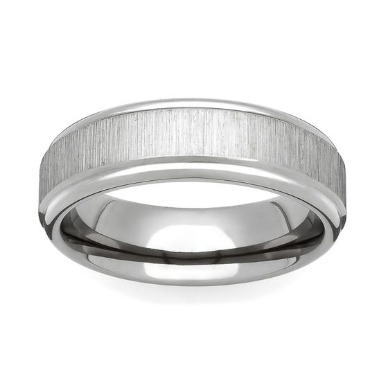 Titanium Flat Linished 4mm Ring