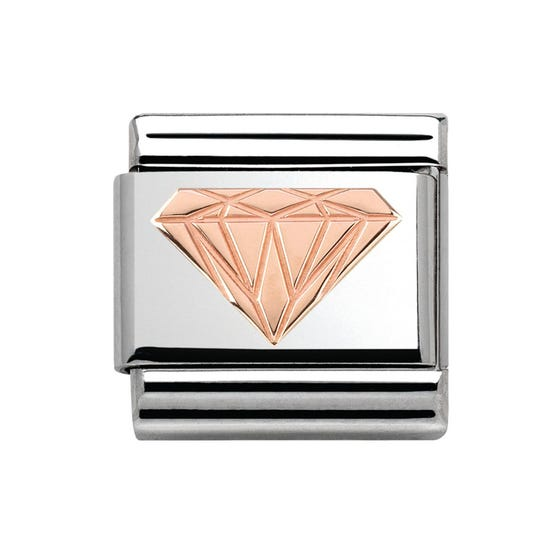 Couture Rose Gold Diamond Pattern Classic Charm
