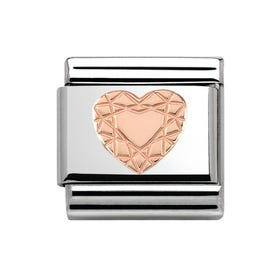 Classic Couture Rose Gold Heart Cut Charm