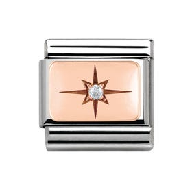 Couture Rose Gold CZ Star Classic Charm