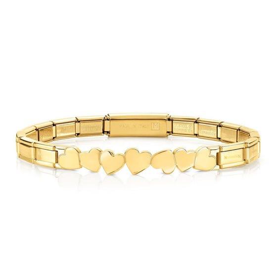 Trendsetter Gold PVD Plated Hearts Bracelet