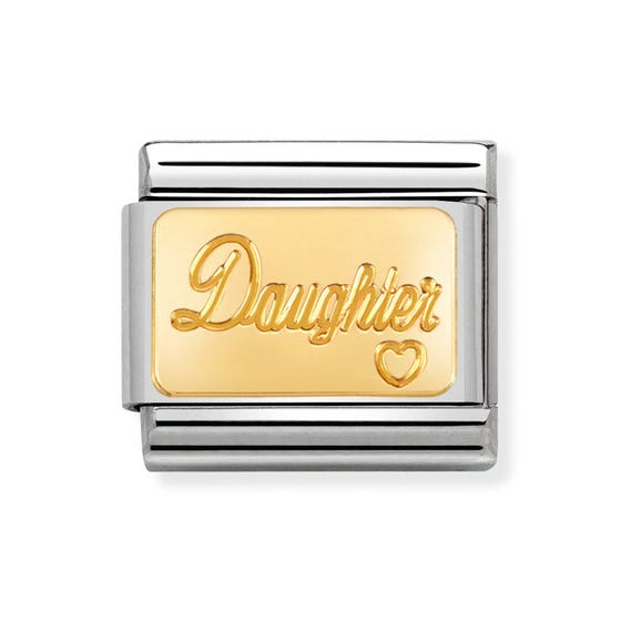 Classic Gold Daughter Charm