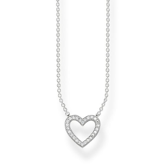 Glam & Soul Open Heart Pave Necklace