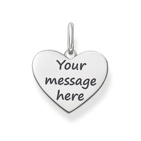 Love Coins Silver Engravable Heart Pendant