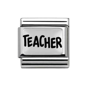 Silver Teacher Classic Charm