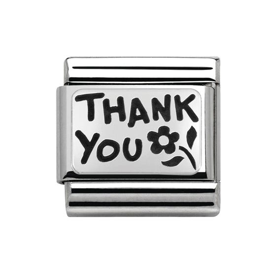 Silver Thank You Classic Charm