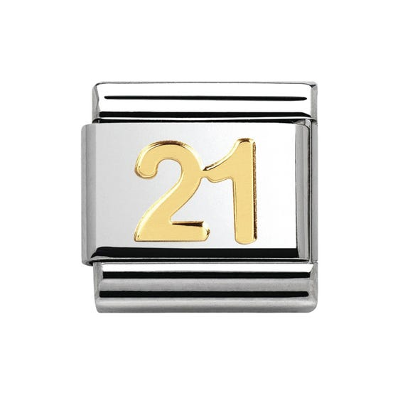 18ct Gold 21st Birthday Classic Charm