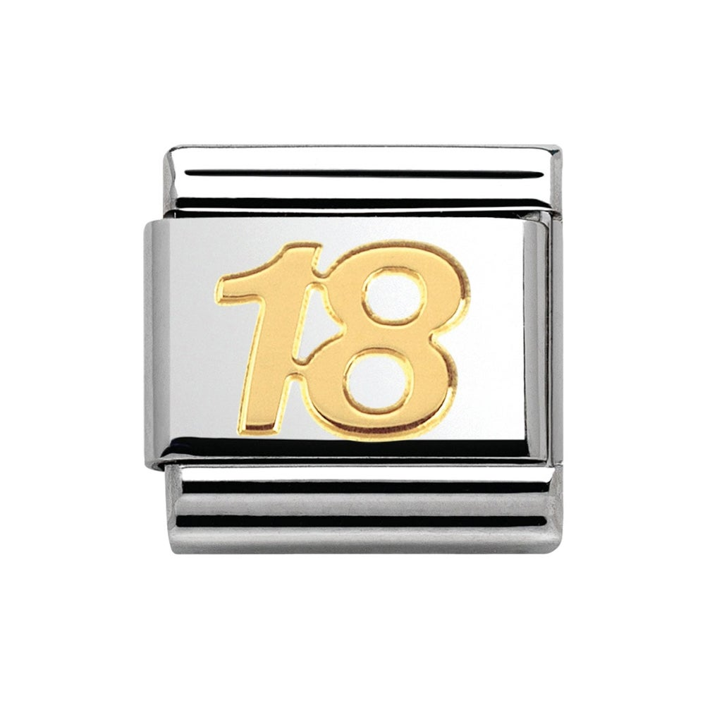 Nomination 18ct Gold 18th Birthday Classic Charm