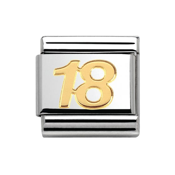 18ct Gold 18th Birthday Classic Charm