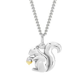 Wald Silver Squirrel Necklace