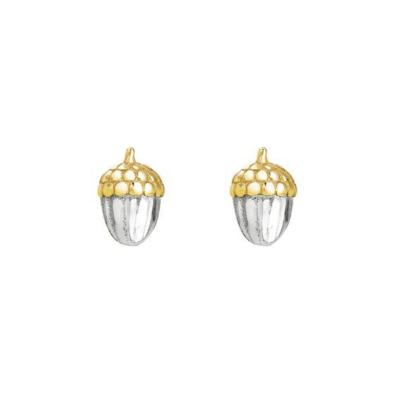 Wald Silver Acorn Stud Earrings