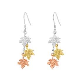 Wald Silver Maple Leaf Drop Earrings