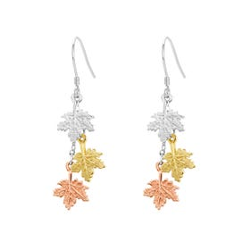 Wald Silver Maple Leaf Drop Earrings
