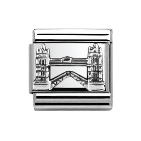 Around The World Silver & Tower Bridge Charm