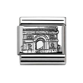 Classic Around The World Silver Arc De Triomphe Charm