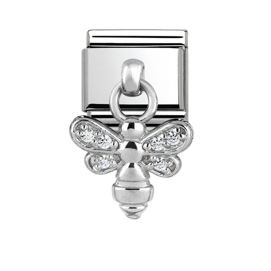 Charms Steel & Silver Bee Charm