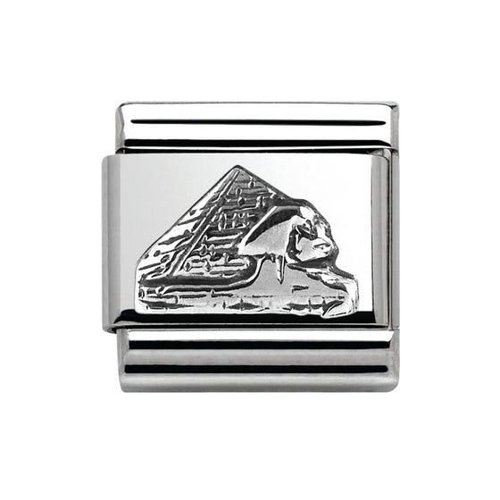 Around The World Silver Pyramid Charm