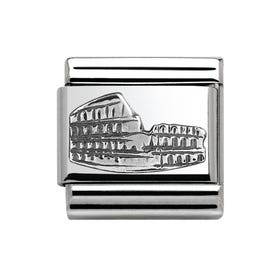 Around The World Silver Colosseum Charm