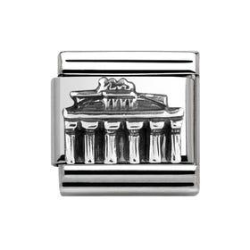 Classic Silver Brandenburg Gate Charm