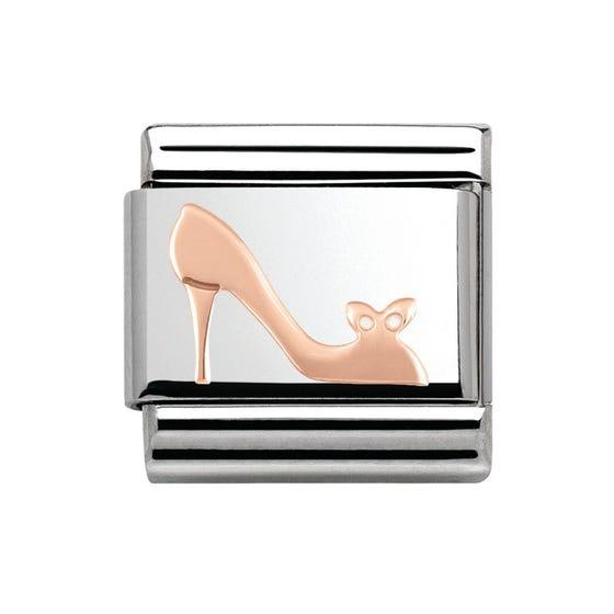 Steel & 9ct Rose Gold Shoe Charm
