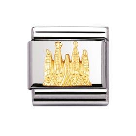Classic Gold La Sagrada Familia Charm