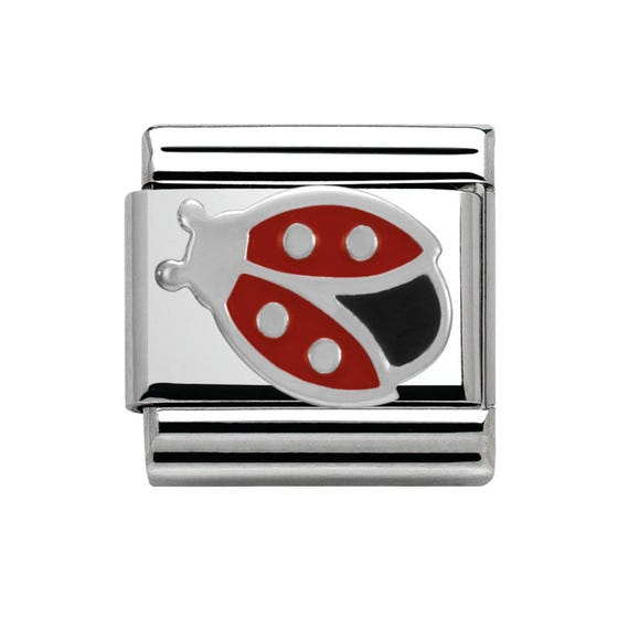 Stainless Steel & Silver Ladybird Charm