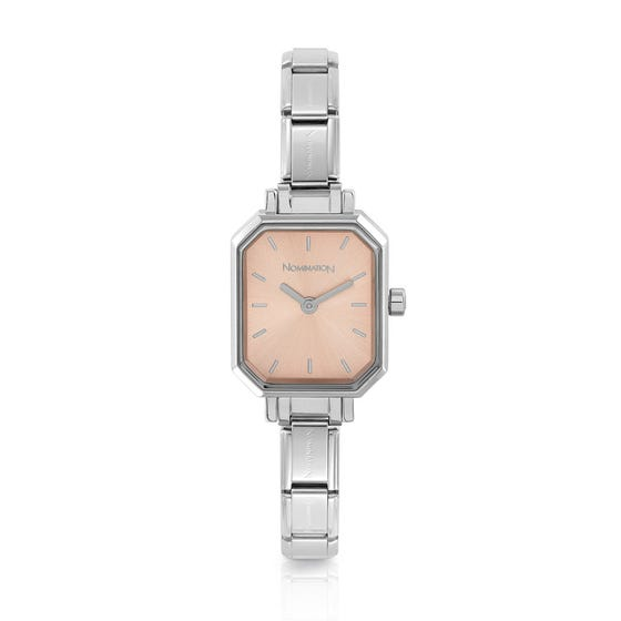 Classic Time Pink Octagon Dial Watch