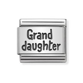 Classic Silver Granddaughter Charm